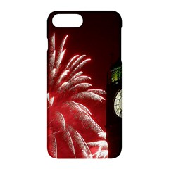 Fireworks Explode Behind The Houses Of Parliament And Big Ben On The River Thames During New Year's Apple Iphone 8 Plus Hardshell Case by Sapixe