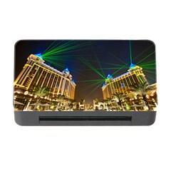 Galaxy Hotel Macau Cotai Laser Beams At Night Memory Card Reader With Cf by Sapixe