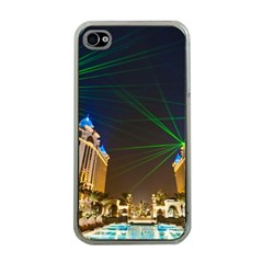 Galaxy Hotel Macau Cotai Laser Beams At Night Apple Iphone 4 Case (clear) by Sapixe