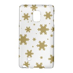 Gold Snow Flakes Snow Flake Pattern Galaxy Note Edge by Sapixe