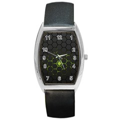 Green Android Honeycomb Gree Barrel Style Metal Watch by Sapixe