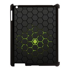 Green Android Honeycomb Gree Apple Ipad 3/4 Case (black) by Sapixe