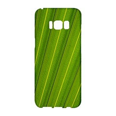 Green Leaf Pattern Plant Samsung Galaxy S8 Hardshell Case  by Sapixe
