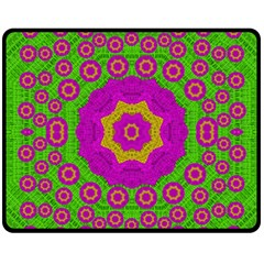 Decorative Festive Bohemic Ornate Style Fleece Blanket (medium)  by pepitasart