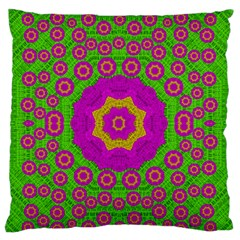 Decorative Festive Bohemic Ornate Style Standard Flano Cushion Case (two Sides) by pepitasart