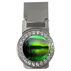 Green Northern Lights Canada Money Clips (cz)  by Sapixe