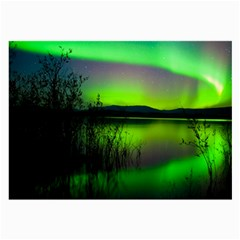 Green Northern Lights Canada Large Glasses Cloth by Sapixe