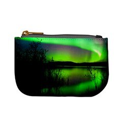 Green Northern Lights Canada Mini Coin Purses by Sapixe