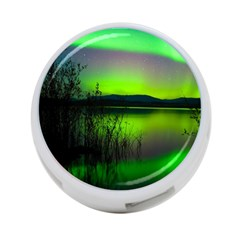 Green Northern Lights Canada 4 Port Usb Hub (one Side) by Sapixe