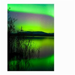 Green Northern Lights Canada Small Garden Flag (two Sides) by Sapixe