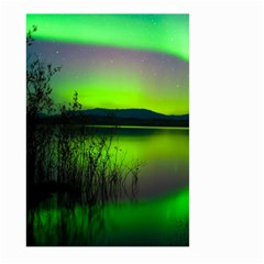 Green Northern Lights Canada Large Garden Flag (two Sides) by Sapixe