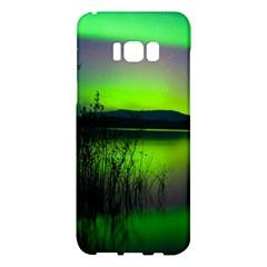Green Northern Lights Canada Samsung Galaxy S8 Plus Hardshell Case