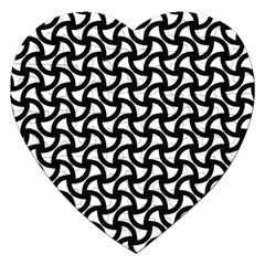 Grid Pattern Background Geometric Jigsaw Puzzle (heart) by Sapixe