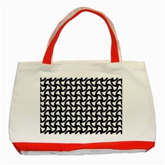 Grid Pattern Background Geometric Classic Tote Bag (red) by Sapixe