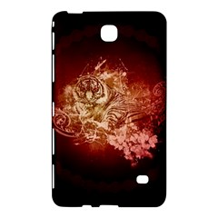 Wonderful Tiger With Flowers And Grunge Samsung Galaxy Tab 4 (7 ) Hardshell Case  by FantasyWorld7