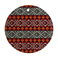 Mayan Symbols Pattern  Round Ornament (two Sides) by Cveti