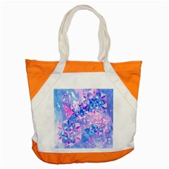 Flower Of Life Pattern Painting Blue Accent Tote Bag