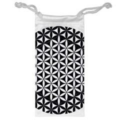 Flower Of Life Hexagon Cube 4 Jewelry Bag by Cveti