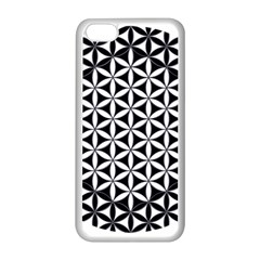 Flower Of Life Hexagon Cube 4 Apple Iphone 5c Seamless Case (white) by Cveti