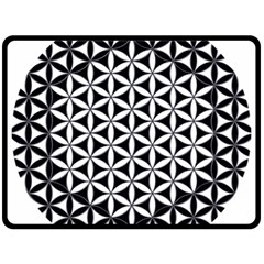 Flower Of Life Hexagon Cube 4 Double Sided Fleece Blanket (large)  by Cveti