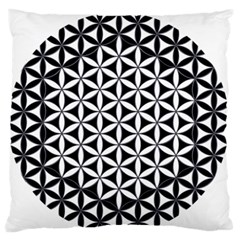 Flower Of Life Hexagon Cube 4 Large Flano Cushion Case (two Sides) by Cveti