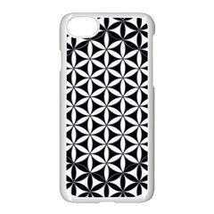 Flower Of Life Hexagon Cube 4 Apple Iphone 8 Seamless Case (white) by Cveti