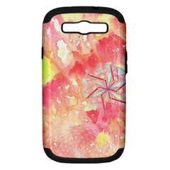 Flower Of Life Pattern Pink Samsung Galaxy S Iii Hardshell Case (pc+silicone) by Cveti
