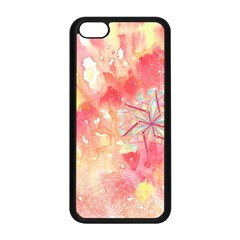 Flower Of Life Pattern Pink Apple Iphone 5c Seamless Case (black) by Cveti