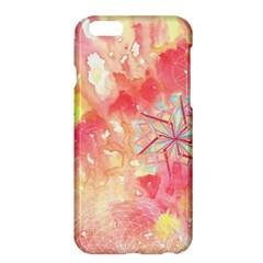 Flower Of Life Pattern Pink Apple Iphone 6 Plus/6s Plus Hardshell Case by Cveti