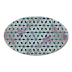 Asterisk, Pattern Sacred Geometry 1 Oval Magnet by Cveti