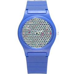 Asterisk, Pattern Sacred Geometry 1 Round Plastic Sport Watch (s) by Cveti