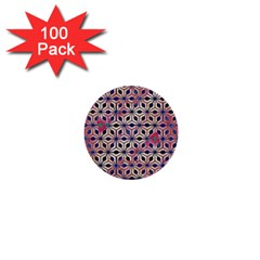 Asterisk Pattern Sacred Geometry 2 1  Mini Buttons (100 Pack)  by Cveti