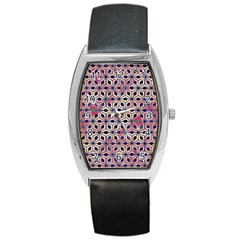 Asterisk Pattern Sacred Geometry 2 Barrel Style Metal Watch by Cveti