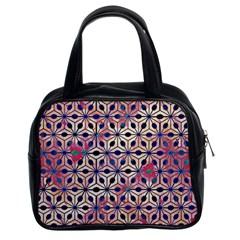 Asterisk Pattern Sacred Geometry 2 Classic Handbags (2 Sides) by Cveti