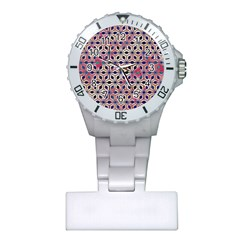 Asterisk Pattern Sacred Geometry 2 Plastic Nurses Watch by Cveti