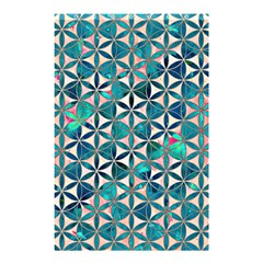 Flower Of Life, Paint, Turquoise, Pattern, Shower Curtain 48  X 72  (small)  by Cveti