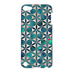 Flower Of Life, Paint, Turquoise, Pattern, Apple Ipod Touch 5 Hardshell Case by Cveti