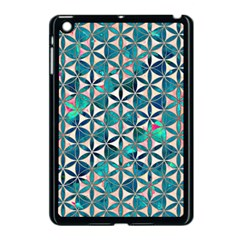Flower Of Life, Paint, Turquoise, Pattern, Apple Ipad Mini Case (black) by Cveti