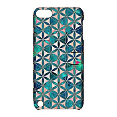 Flower Of Life, Paint, Turquoise, Pattern, Apple Ipod Touch 5 Hardshell Case With Stand by Cveti