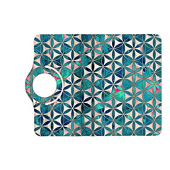 Flower Of Life, Paint, Turquoise, Pattern, Kindle Fire Hd (2013) Flip 360 Case by Cveti