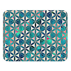 Flower Of Life, Paint, Turquoise, Pattern, Double Sided Flano Blanket (large)  by Cveti