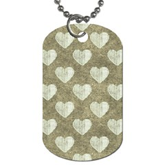 Hearts Motif Pattern Dog Tag (two Sides) by dflcprints