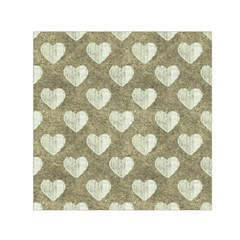 Hearts Motif Pattern Small Satin Scarf (square) by dflcprints