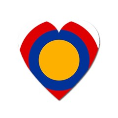 Roundel Of Armenian Air Force Heart Magnet by abbeyz71