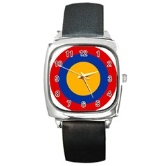 Roundel Of Armenian Air Force Square Metal Watch by abbeyz71