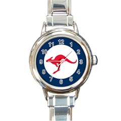Roundel Of The Australian Air Force Round Italian Charm Watch by abbeyz71