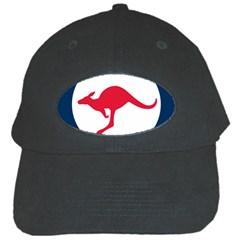 Roundel Of The Australian Air Force Black Cap by abbeyz71