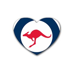 Roundel Of The Australian Air Force Rubber Coaster (heart)  by abbeyz71