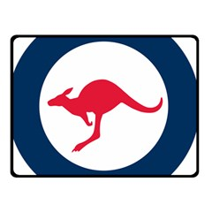 Roundel Of The Australian Air Force Double Sided Fleece Blanket (small)  by abbeyz71