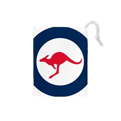 Roundel Of The Australian Air Force Drawstring Pouches (small)  by abbeyz71